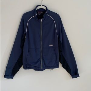 Men's Ibex Climawool Lite soft shell navy jacket.